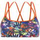Funkita Criss Cross Top Bikini Damer sort/farverig